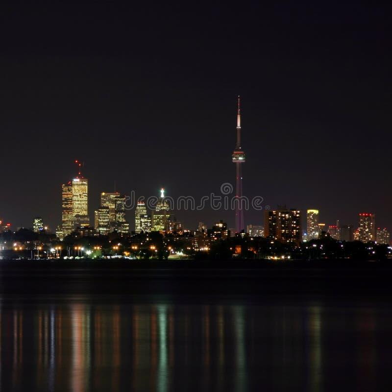 晚上地平线多伦多 库存照片