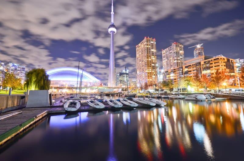 晚上地平线多伦多 免版税图库摄影