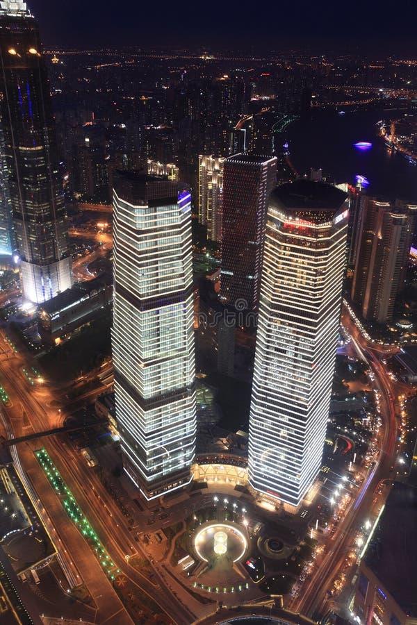 晚上场面上海 免版税库存照片