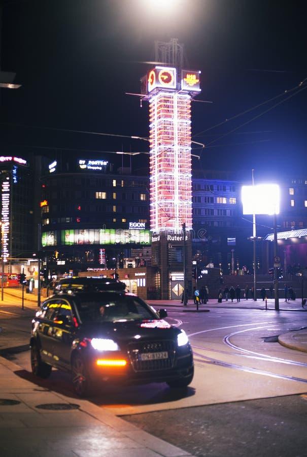 晚上奥斯陆 免版税库存照片