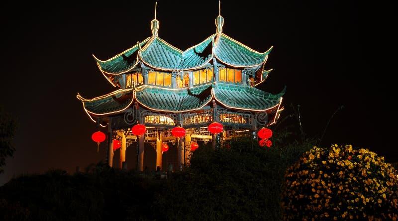 晚上寺庙 库存照片