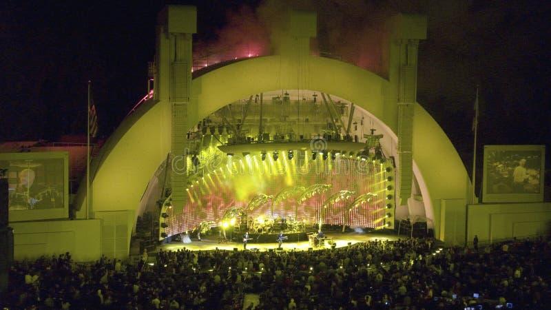 晚上摇滚乐音乐会 库存图片