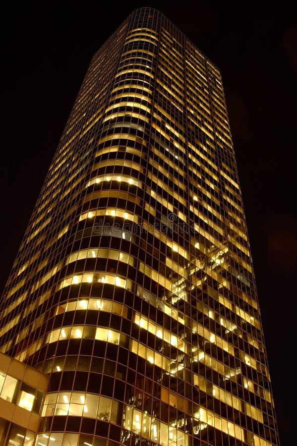 晚上摩天大楼 免版税库存图片