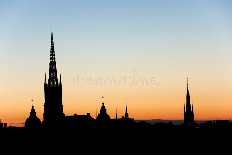 晚上斯德哥尔摩 图库摄影