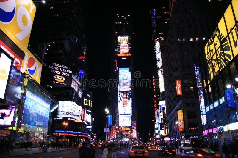 晚上方形时间 免版税图库摄影