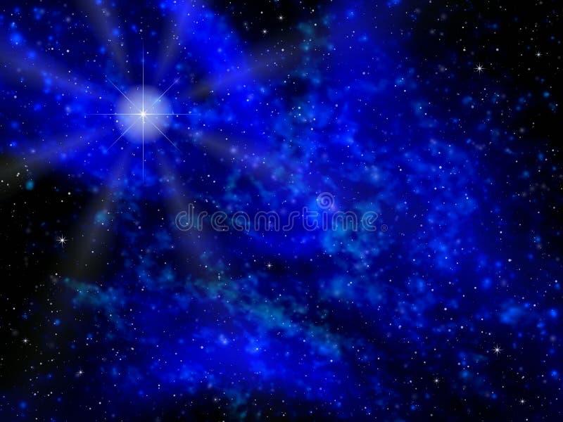 晚上星形 向量例证