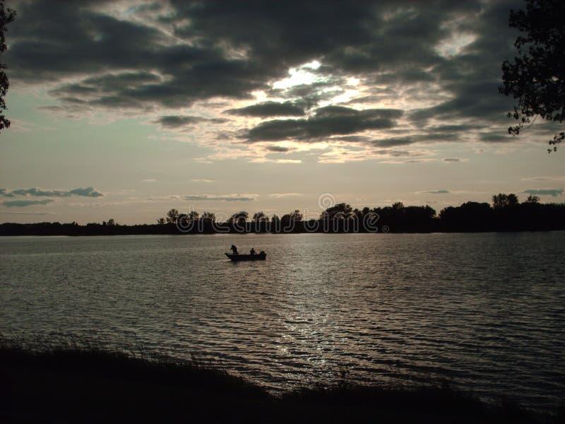 晚上渔 免版税图库摄影