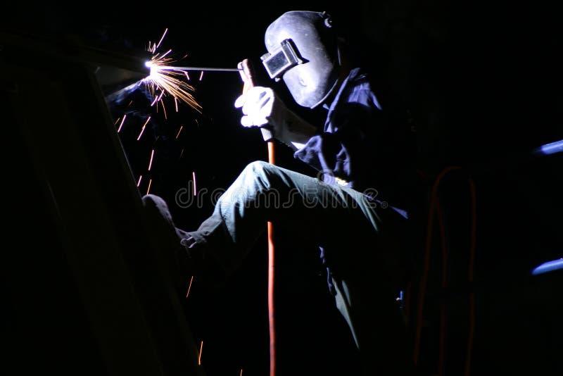 晚上焊接 免版税库存图片