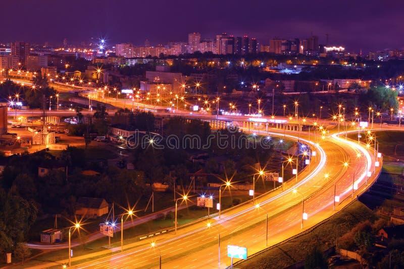 晚上米斯克,白俄罗斯,欧洲的首都 免版税库存图片