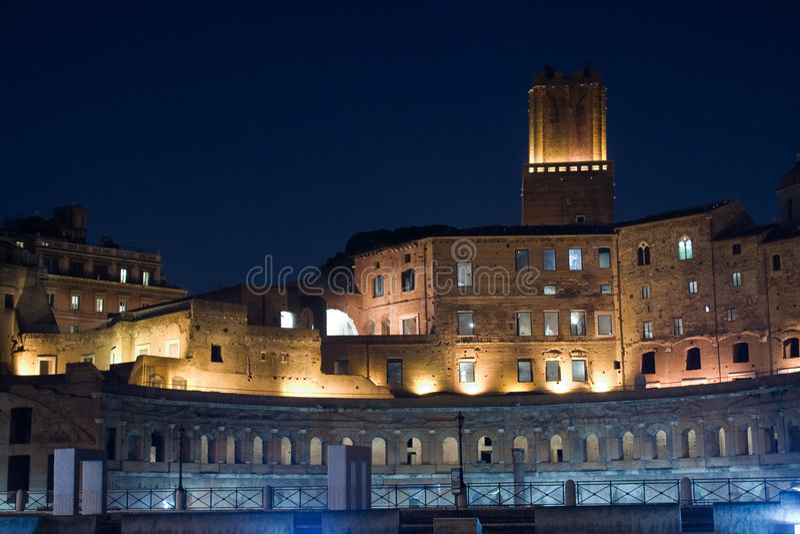 晚上罗马 免版税库存图片