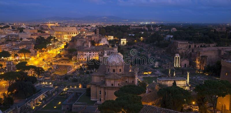 晚上罗马 库存图片