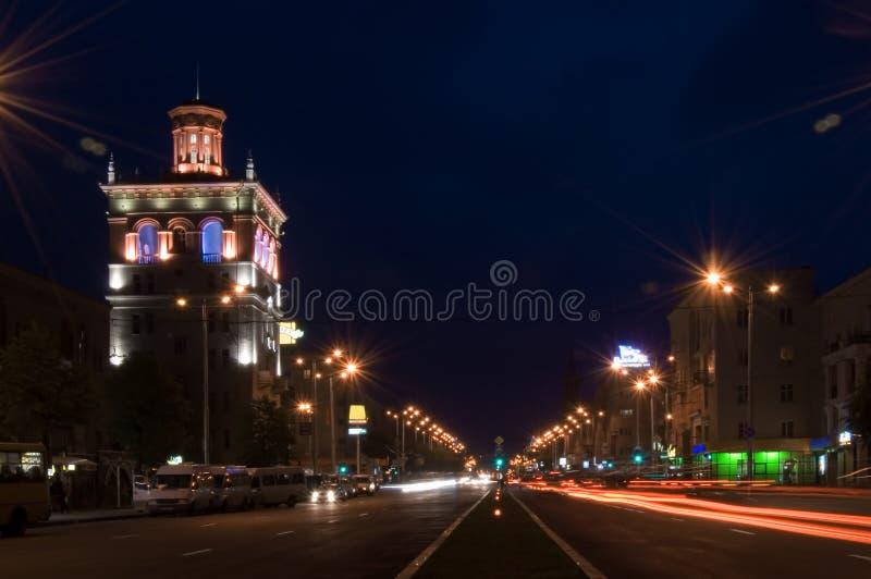 晚上街道 库存图片