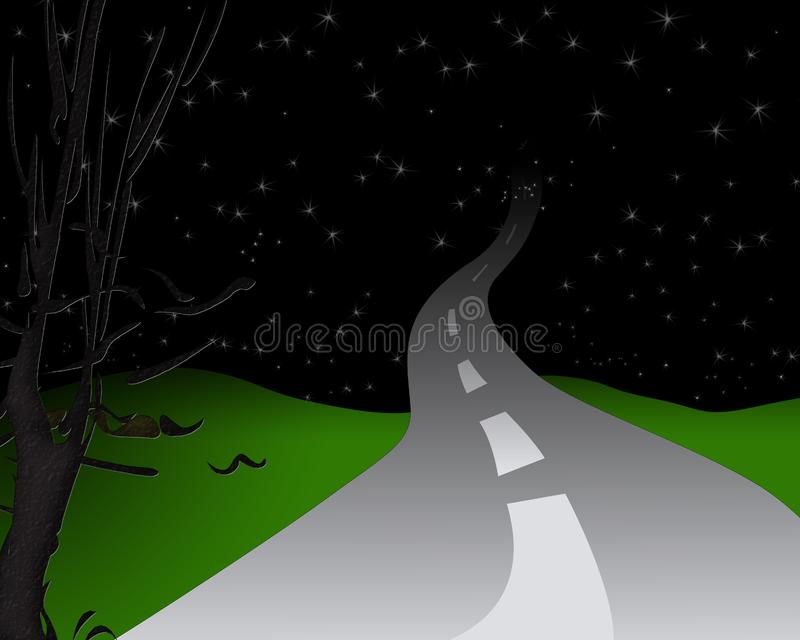 晚上路 库存照片