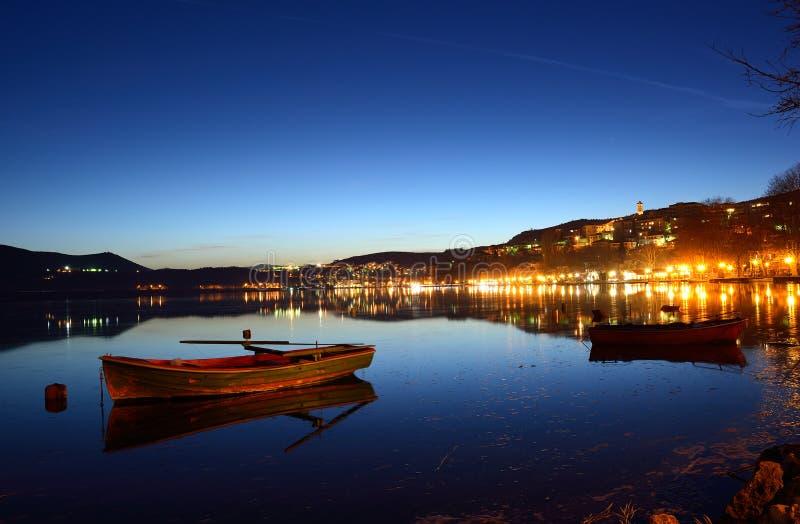 晚上都市风景 免版税库存照片