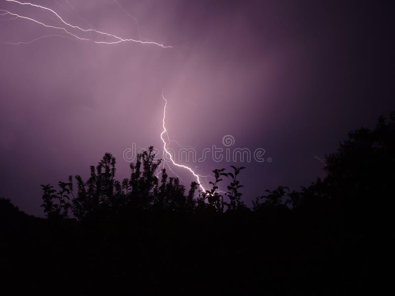 晚上风暴 免版税图库摄影