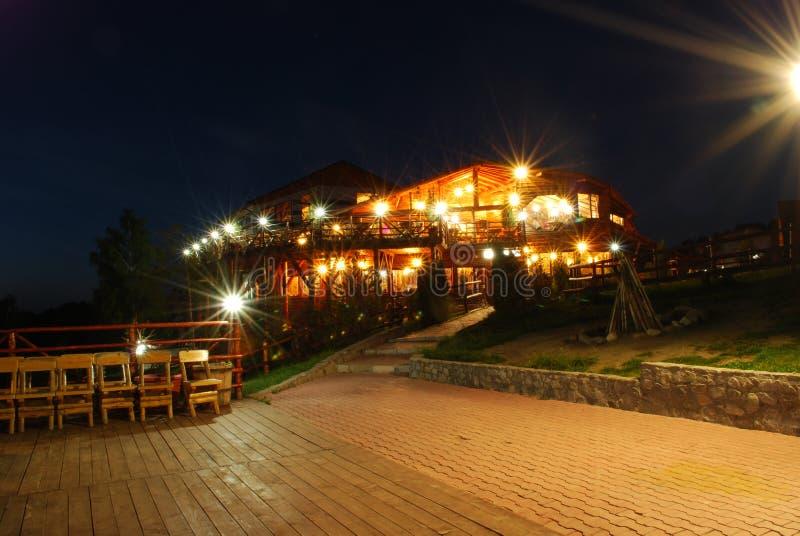 晚上餐馆 图库摄影
