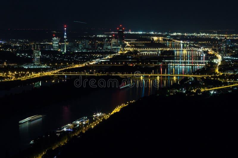 晚上维也纳 库存图片