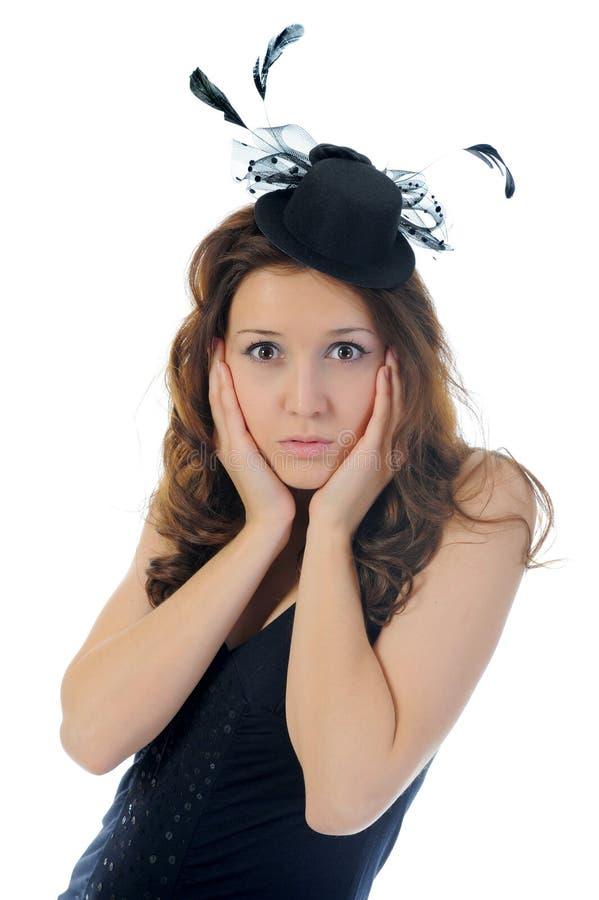 Download 晚礼服妇女 库存图片. 图片 包括有 查出, 锦缎, 羽毛, 面部, 眼睛, 女孩, 脸色, 盖帽, beauvoir - 22358635