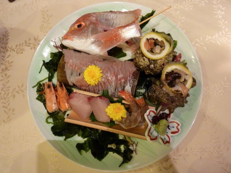 晚餐的鱼在日本 免版税图库摄影