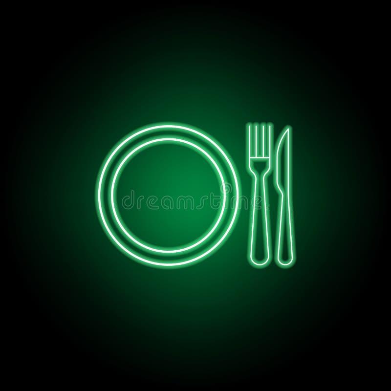 晚餐盘,叉子,刀子象 E 皇族释放例证