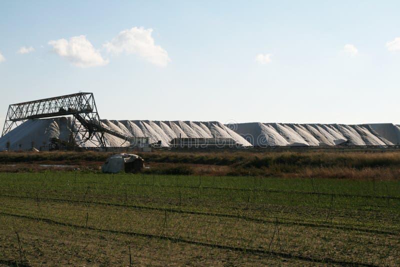 普利亚盐厂 免版税库存图片