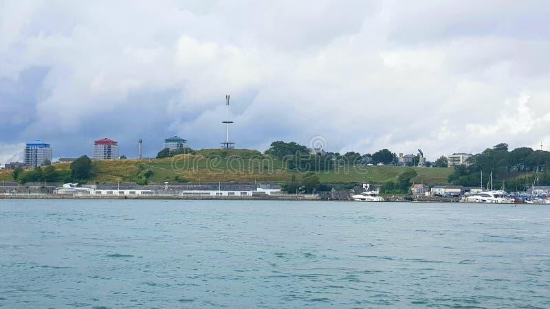普利茅斯德文港,明智的登上,河它玛,普利茅斯英国 库存照片