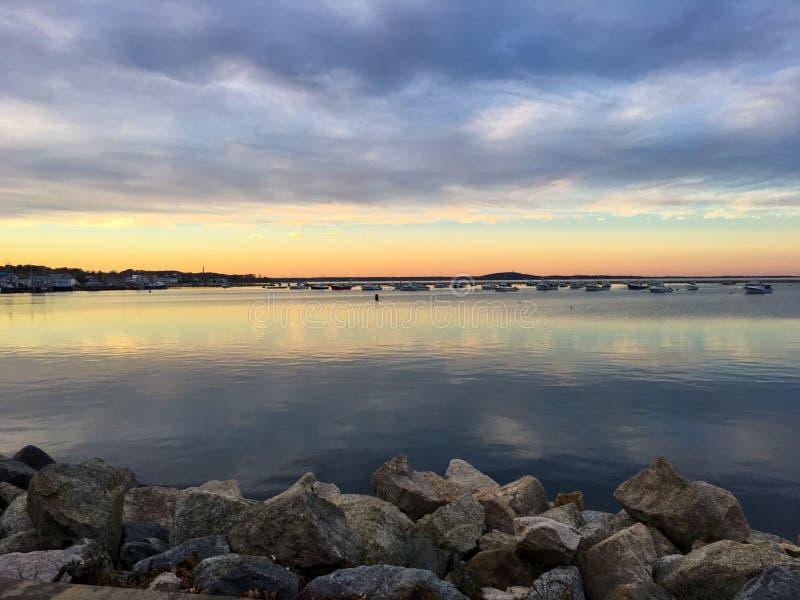 普利茅斯马萨诸塞鳕鱼角 库存照片