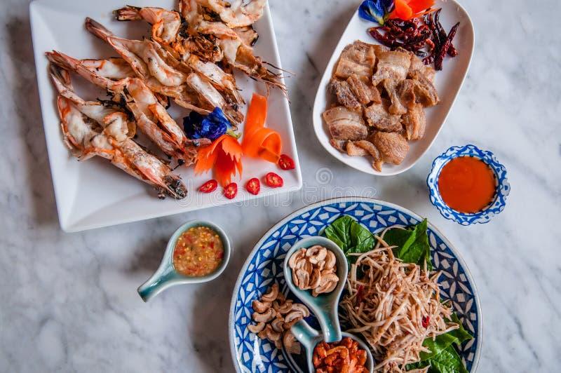 普吉岛地方食物,泰国食物 免版税库存照片