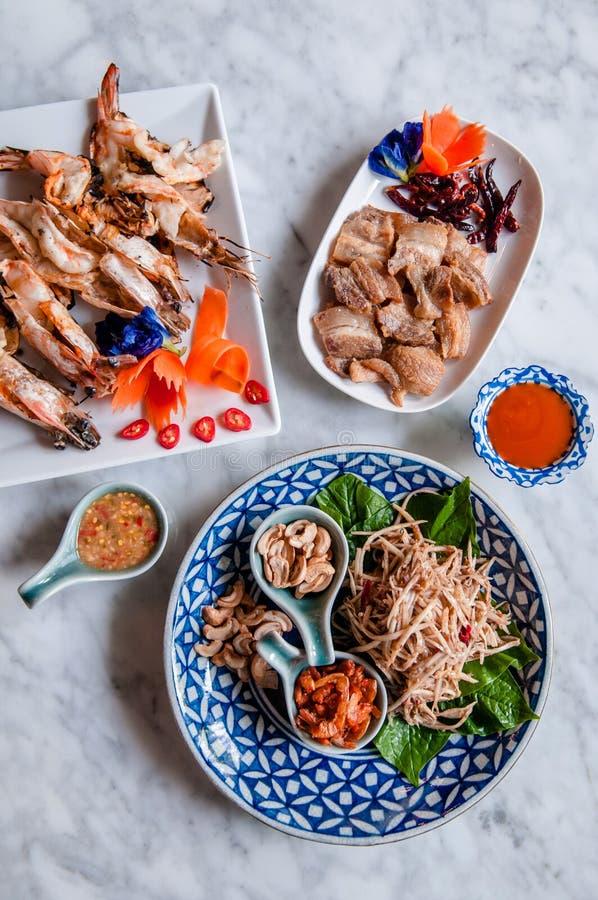 普吉岛地方食物,泰国食物 免版税库存图片