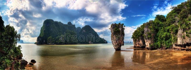 普吉岛泰国巡航到詹姆斯庞德海岛 图库摄影