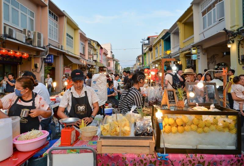 普吉岛老镇,泰国 库存照片