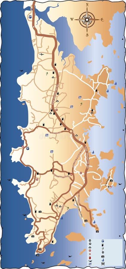 普吉岛路线图  皇族释放例证