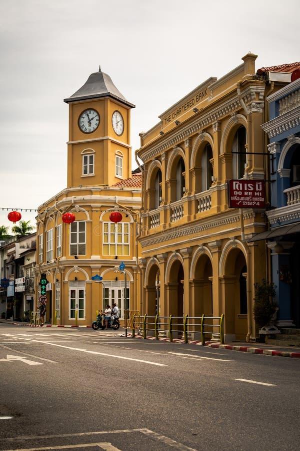 普吉岛,泰国- 2018年10月8日:被更新的丝光斜纹棉布葡萄牙语 免版税库存图片