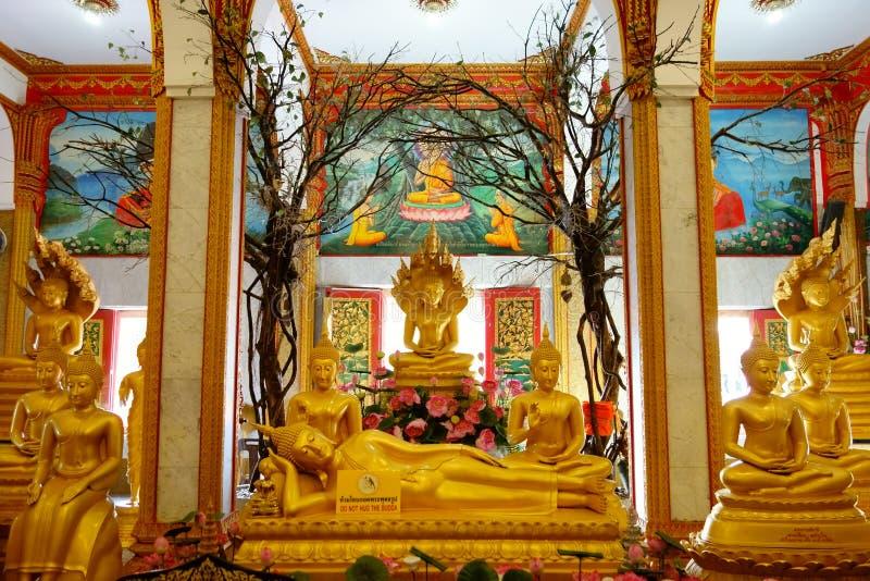 普吉岛,泰国- 2016年11月3日:Wat查龙或Wat Chaiyath 免版税库存图片