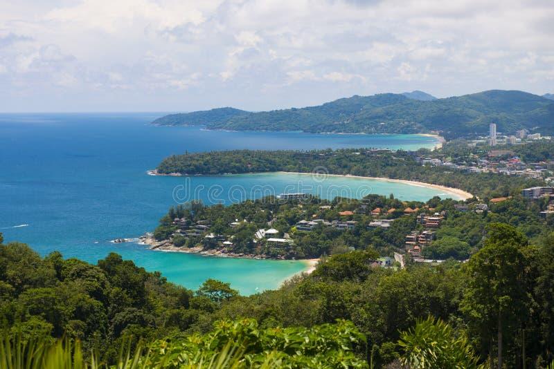 普吉岛, THAILAND-AUGUST 29, 2015年karon观点,我们能看到钾 库存图片