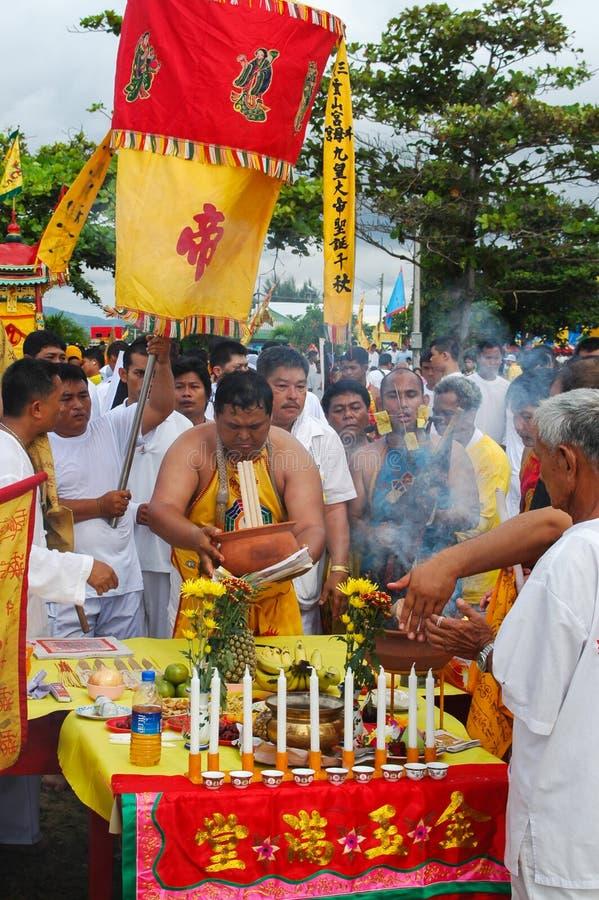 普吉岛素食节日省传统 库存图片
