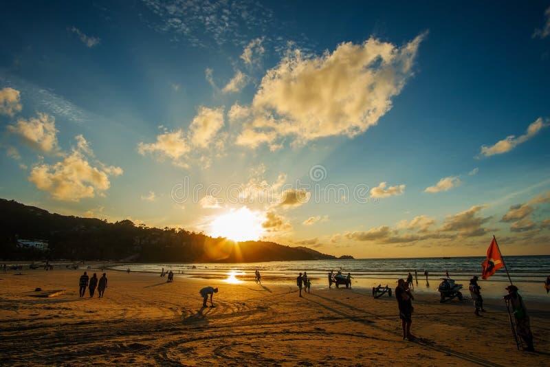 普吉岛Patong海滩10月20,2017,普吉岛,泰国 库存照片