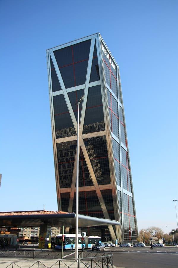 普埃尔塔de Europa East在马德里,西班牙 库存图片