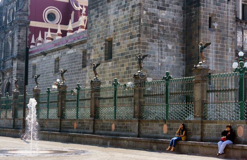 普埃布拉大教堂在墨西哥 免版税库存图片