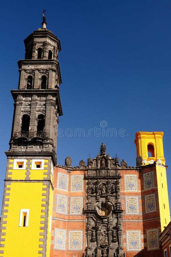 普埃布拉市在墨西哥 库存图片