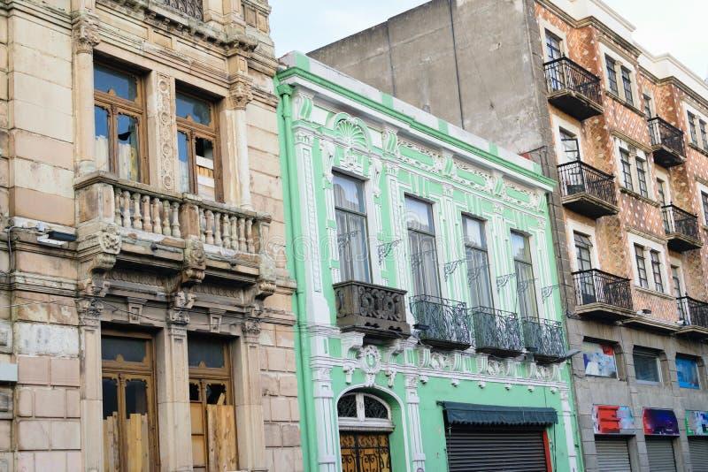 普埃布拉,墨西哥建筑学 免版税图库摄影