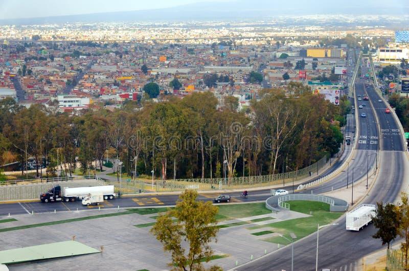 普埃布拉,墨西哥都市风景 免版税库存照片