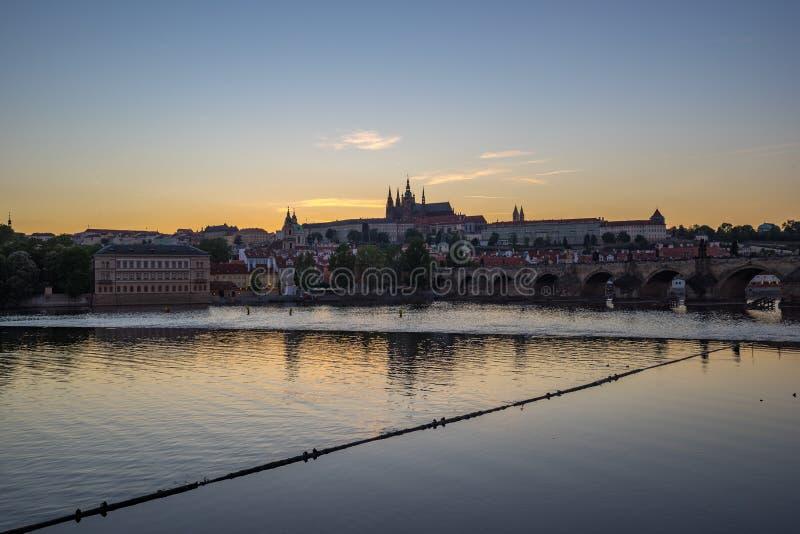 普拉哈地平线在捷克 库存图片