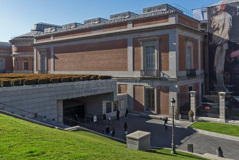 普拉多的国家博物馆在市马德里,西班牙 免版税库存图片