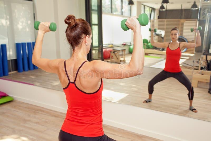 普拉提的健身房 免版税库存照片