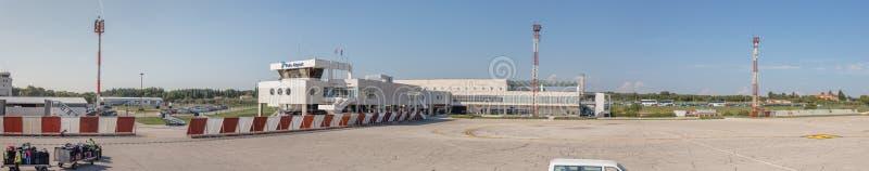普拉机场,克罗地亚-全景 免版税图库摄影