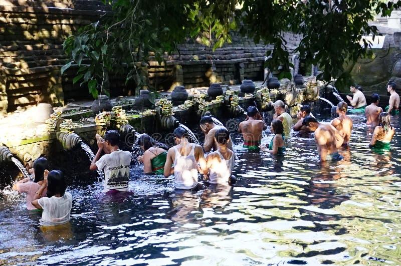 普拉蒂尔塔Empul寺庙,巴厘岛,印度尼西亚 图库摄影