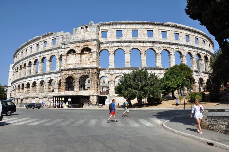 普拉colosseum,克罗地亚 免版税库存图片
