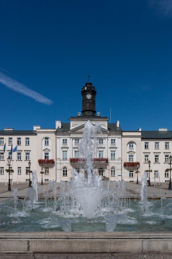 普沃茨克老镇在波兰 库存照片