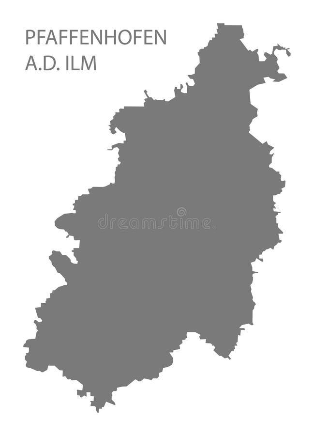 普法芬霍芬巴伐利亚德国的der伊尔姆河灰色县地图 皇族释放例证